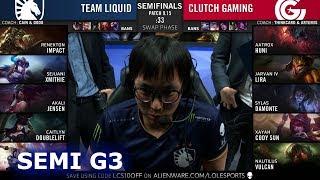Video TL vs CG - Game 3   Semi Finals S9 LCS Summer 2019   Team Liquid vs Clutch Gaming G3 MP3, 3GP, MP4, WEBM, AVI, FLV Agustus 2019