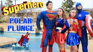 Download Youtube: Superhero Polar Plunge 2017 | Brooklyn and Bailey Challenge Videos