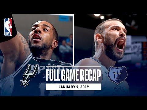 Video: Full Game Recap: Spurs vs Grizzlies   Marc Gasol Drops 26 & 14