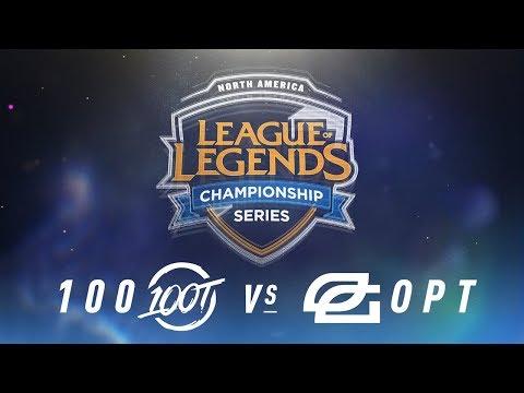 100 vs. OPT - Week 1 Day 1 | NA LCS Spring Split | 100 Thieves vs. OpTic Gaming (2018)
