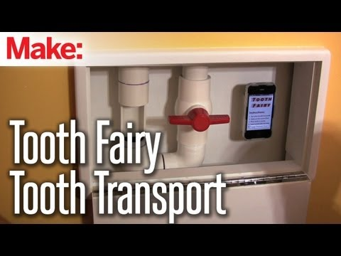 Father Builds First Raspberry Pi-Powered Tooth Fairy Tooth Transport