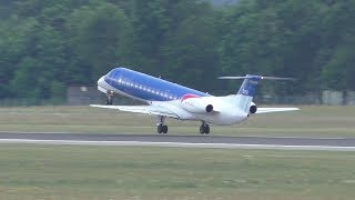This bmi flight came directly from the Formula One race at Spielberg and mad a quick stop at Graz Airport. bmi regional BM 8254 Airfield Zeltweg - Graz Airpo...