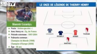 Football / Le Onze De Légende De Thierry Henry - 15/12