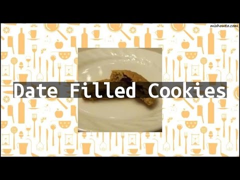 Recipe Date Filled Cookies (видео)
