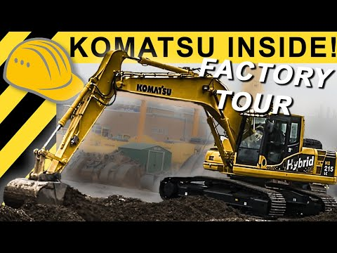 Komatsu Factory Tour - Raupenbagger Fertigung - Manufacturing Komatsu Excavators - Bauforum24