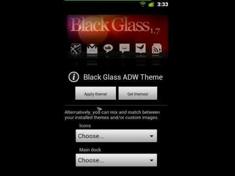 Video of Black Glass ADW Theme