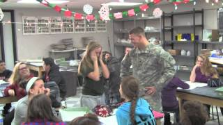 Military Brother surprises his sister