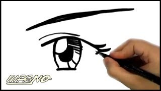 Curso De Mangá: Como Desenhar Olhos Do Mangá (How To Draw Manga Eyes)