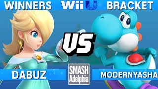 This Super Smash Bros. 4 Wii U tournament match features Dabuz as Rosalina vs ModernYasha as Yoshi. This Winners Bracket match at SMASHADELPHIA 2017 was livestreamed on 06/24/17.Enjoy the video? Hit the like button and drop a comment and let us know your favorite part. Share it with your friends and spread the hype!Check out our website:► http://clashtournaments.comWatch our live streams:► http://twitch.tv/clashtournaments► http://hitbox.tv/clashtournamentsFind us on social media:► http://facebook.com/clashtournaments► http://youtube.com/clashtournaments► http://twitter.com/clashtournament► http://instagram.com/clashtournamentsBe sure to Follow and Subscribe to us to keep up to date on all of our content. Click the bell next to the subscribe button to receive instant notifications on all uploads!