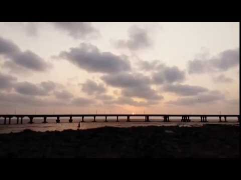 Sunset Behind The Bridge