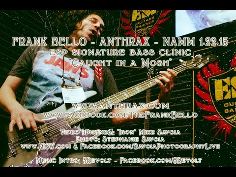 NAMM 2015 - Frank Bello Anthrax ESP Signature Bass Clinic - 1.22.15