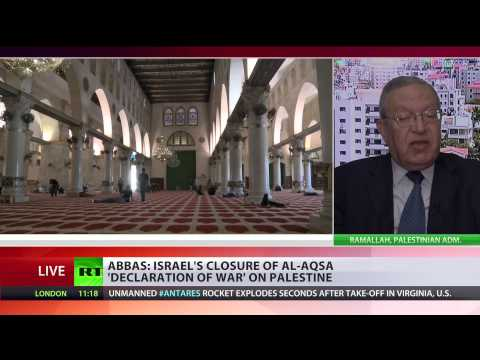 NEW - The Al-Aqsa Mosque in Jerusalem has been closed to all worshipers for the first time since 1967. Palestinian leader Mahmoud Abbas called the closure a 'declaration of war.' Consequences...