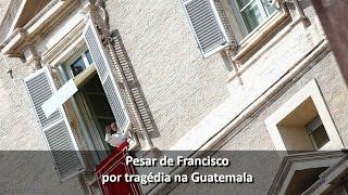 Papa reza pela Guatemala: violência contra os jovens, grito escondido a ser ouvido