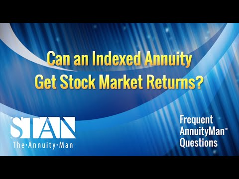 Can an indexed annuity get stock market returns?