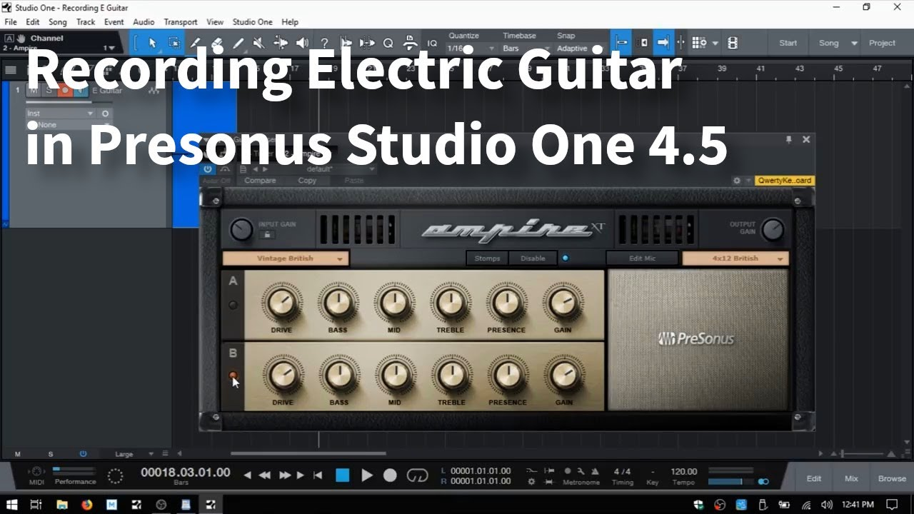 Recording Electric Guitar In Studio One 4 [With Ampire] – For Noobs!