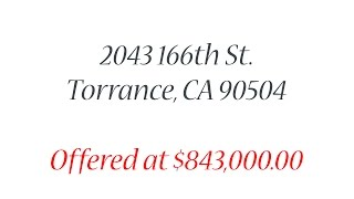2043 166th St. Torrance, CA 90504