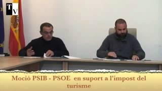 Moció PSIB - PSOE impost turisme
