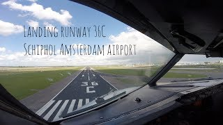 "This film starts after switching radio to the tower frequency.We are landing on runway 36C also known as the ""Zwanenburgbaan"" and overflying runway 06/24 which was closed for maintenance.Enjoy the film!All ATC and conversations are from this flight. Enjoy the view and film!Greetings,MightyMKL(Don't forget to subscribe & like!)"