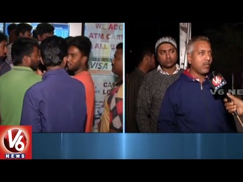 Demonetization-Effect-People-Throng-At-ATMs-For-Withdrawals-Hyderabad-V6-News