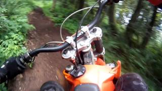 2. Riding 2006 KTM XC 200 At Home