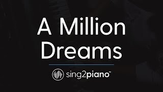 A Million Dreams (Piano Karaoke Instrumental) The Greatest Showman