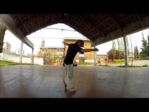 Trượt patin kỹ thuật Phanh Acid Cross Slide khi đi ngược