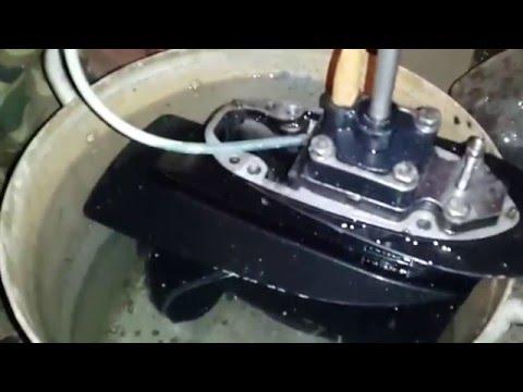 замена помпы в лодочном моторе меркурий 5