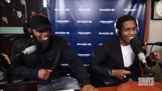 ASAP Rocky DISSES 50 CENT + G Unit In DOPE Freestyle! (Accidentally) Funny. Sway 2015