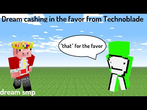 Dream cashing in the favor from Technoblade Dream SMP.