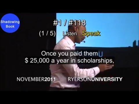 [ShadowingBook] The skill of self confidence | Dr. Ivan Joseph | TEDxRyersonU