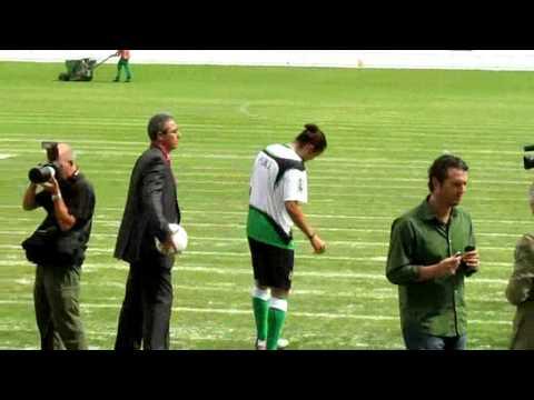 Presentación de Waldo Ponce en el Racing de Santander