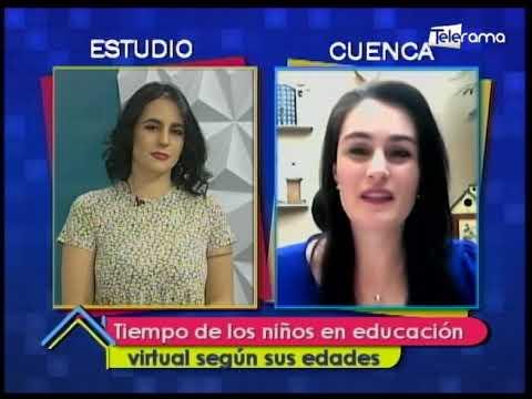 Tiempo de los niños en educación virtual según sus edades