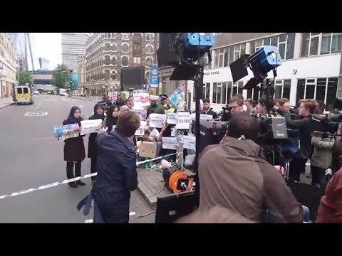 Londres: quand CNN met en scène une « manifestation anti-Daech » de Musulmans (Vidéo)