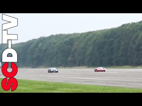 bugatti veyron vs ferrari laferrari - sfida epica!