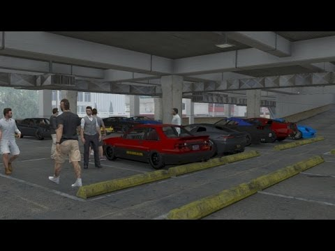 Grand Theft Auto V Online | Street Car Meet Pt.2, New Clothes, Car Wash, Cruise & Drag Racing