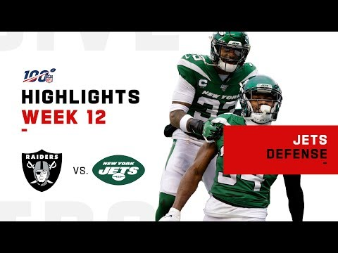 Jets Defense Grounds the Raiders | NFL 2019 Highlights