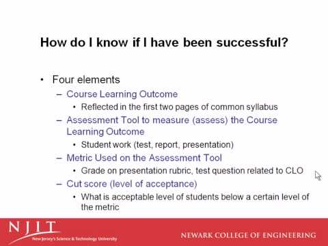 Assessment Process for Engineering Technology bei NJIT
