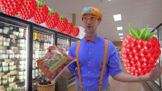 1 Hour of Blippi Educational Videos for Toddlers | Learn Fruit for Kids and More!