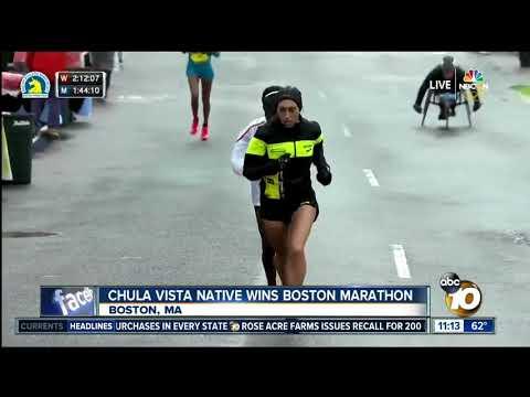 Chula Vista native wins Boston marathon