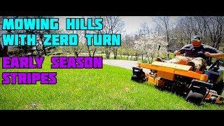 7. Hustler mowing hills! Look at those STRIPES!