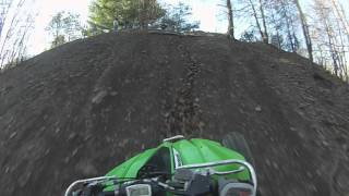 7. Kfx450 hill climb with some rev limiter PART 2