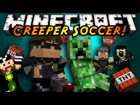 Soccer Game - KICK THAT CREEPER INTO YOUR OPPONENTS GOAL! THE FIRST TEAM TO 5 WINS WHILE THE LOSING TEAM GETS DESTROYED BY THE GIANT CREEPER! Get a FREE XBOX ONE here! htt...