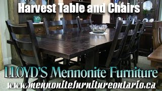 Mennonite Harvest Table and Chairs