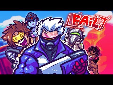 OVERWATCH FAIL, CENSORED Edition! (видео)