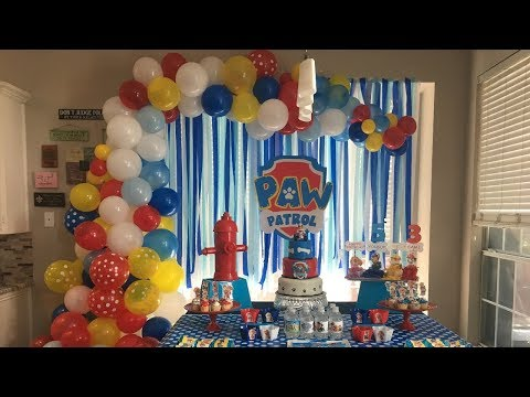 Organic Balloon Garland Backdrop | PAW PATROL BACKDROP | Tutorial