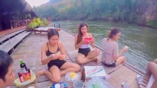 Kanchanaburi Thailand  city photo : Kanchanaburi, Thailand Part 1 | River Kwai Jungle Rafts | กาญจนบุรี