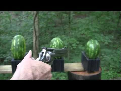 500 - The mighty .500 S&W Magnum demonstrates its massive authority in a little bit of fun.! I always wondered what a
