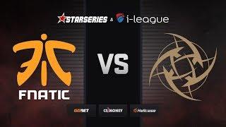 [RU] fnatic vs NiP | Map 2 – Cache | StarSeries i-League Season 7