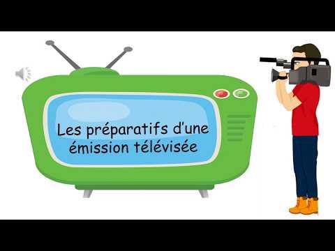 Les préparatifs d'une émission télévisée