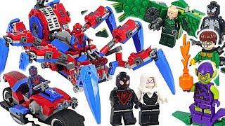 Video LEGO Marvel Spider-Man Crawler, 2099, Ghost, Miles Morales VS Venom, Carnage! #DuDuPopTOY MP3, 3GP, MP4, WEBM, AVI, FLV Maret 2019